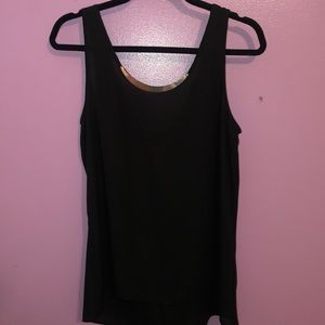 Black tank top with embellishments